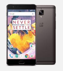 Смартфон OnePlus OnePlus 3T Gunmetal, 5.5'' 1920x1080, 2.35GHz+1.6GHz, 4 Core, 6GB RAM, 64GB, 16Mpix/16Mpix, 2 Sim, 2G, 3G, LTE, BT, Wi-Fi, GPS, Glona