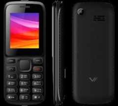 Телефон сотовый Vertex Vertex M107 Black, 1.77'' 120х160, up to 32GB flash, 0.3Mpix, 2 Sim, 2G, BT, Micro-USB, 900mAh, 113g, 109.1х45х13.3, задняя пан